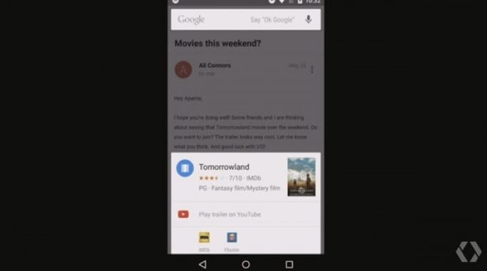 Android M:Now on Tap