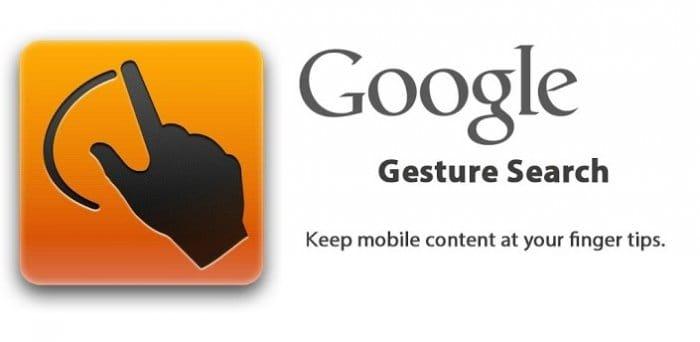 Google Gesture Search