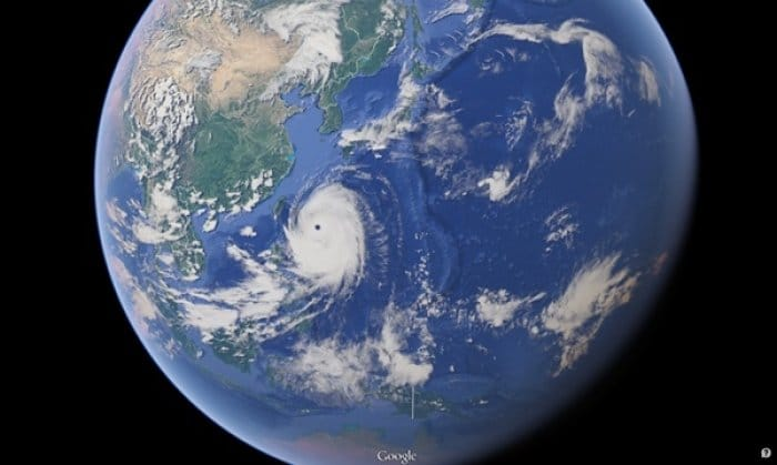 Googleマップ 台風8号が日本襲来