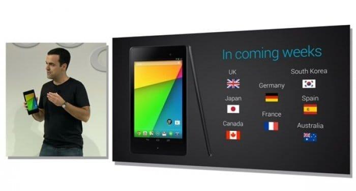 Nexus 7 2013 発売日
