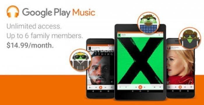Google Play Musicにファミリープランが追加、月額14.99ドルで6人まで利用可能に