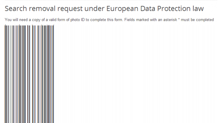 Google リンク削除フォーム