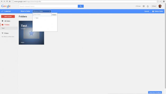 Google Stars フォルダー
