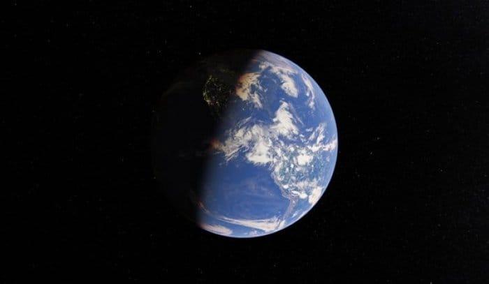 Googleマップ 地球