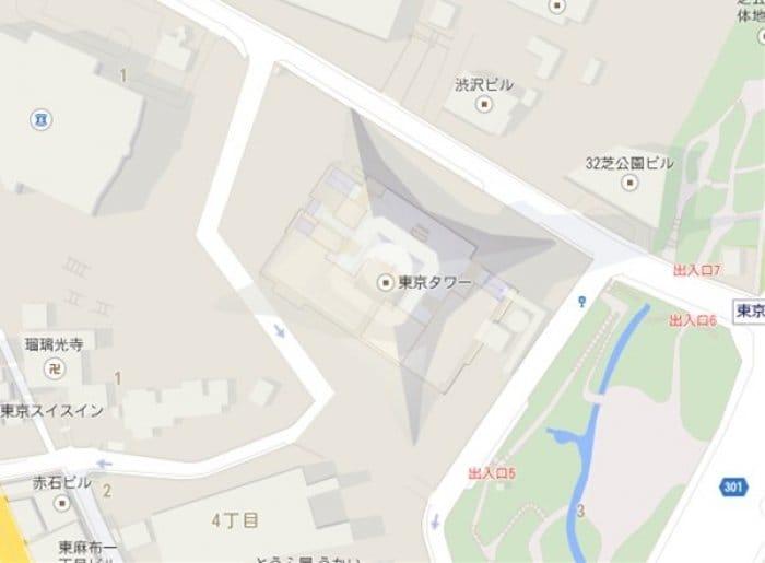 Google Maps 東京タワー