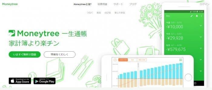 家計簿アプリ マネーツリー