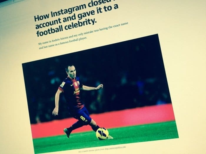 How Instagram closed my account and gave it to a football celebrity.