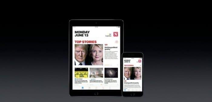 iOS 10 ニュースアプリのデザイン変更
