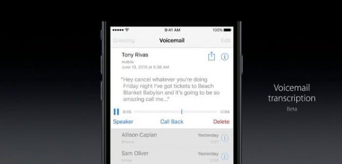 iOS 10 電話アプリで自動書き起こしが可能に