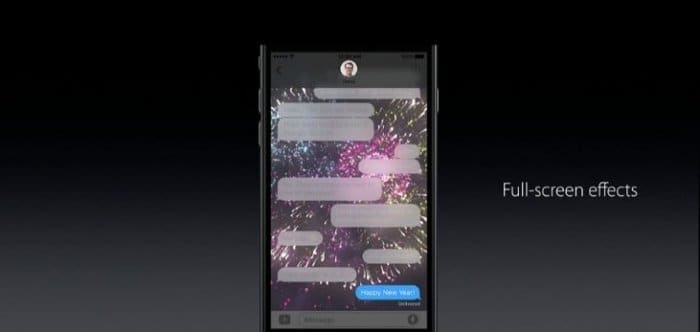 iOS 10 メッセージアプリに多数の新機能、多彩な表現が可能に