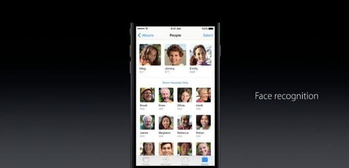iOS 10 写真アプリに顔認識やアルバム自動作成機能