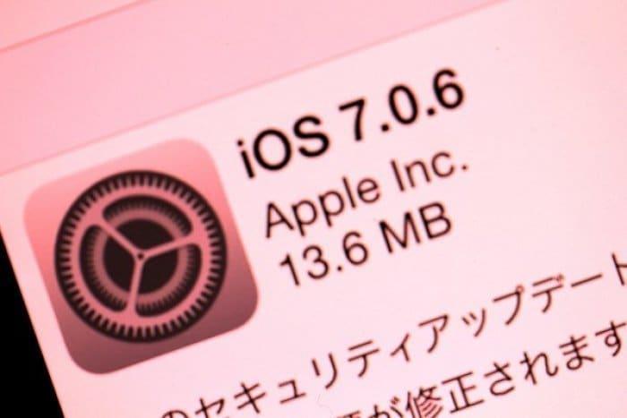iOS 7.0.6 アップデート