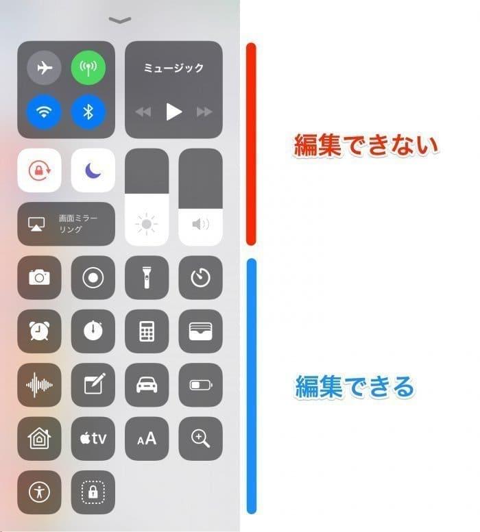 iOS 11::コントロールセンター