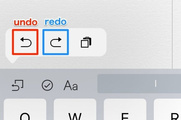 iPad:キーボードで取り消し