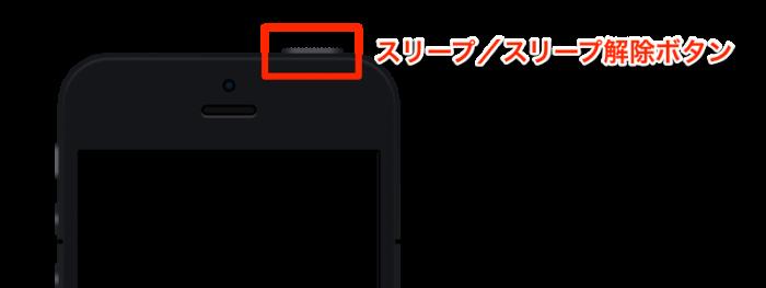 iPhone 5:スリープ/スリープ解除ボタン(電源ボタン)