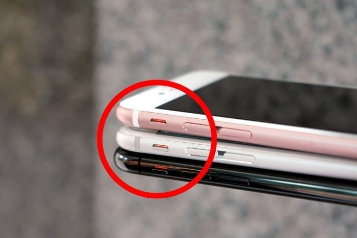 iphone サイレントモード 切り替え
