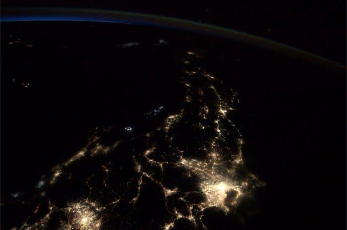ISSから撮影された日本列島