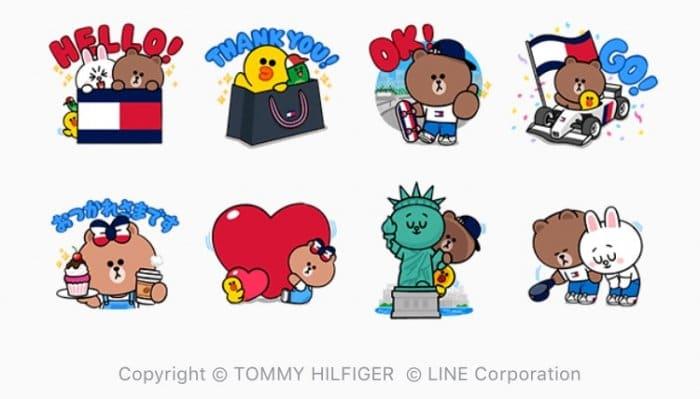 【LINE無料スタンプ】『トミーヒルフィガー&LINEキャラクター』が登場、配布期間は4月16日まで