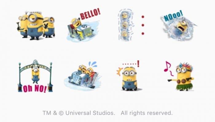 【LINE無料スタンプ】『ミニオン・パーク 野望完成記念スタンプ』が登場、配布期間は7月23日まで