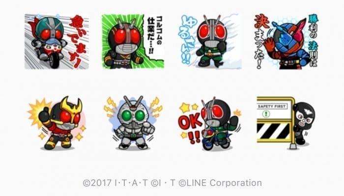 【LINE無料スタンプ】『LINE レンジャー×仮面ライダーコラボ』が登場、配布期間は10月26日まで