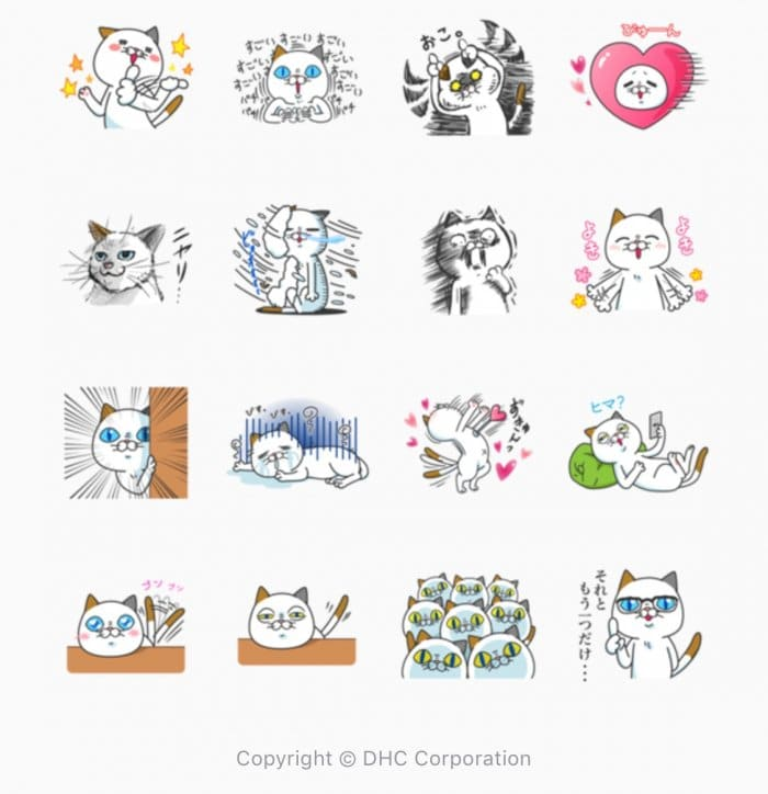 【LINE無料スタンプ】『タマ川 ヨシ子(猫)気ままな第16弾!』が登場、配布期間は12月10日まで