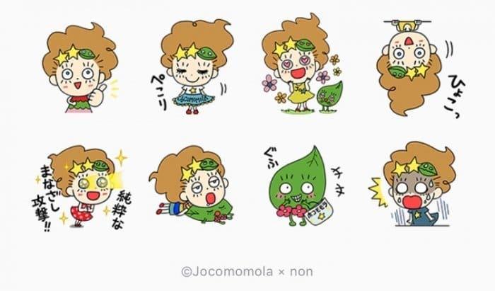 【LINE無料スタンプ】『ホコとのん Jocomomola×non』が登場、配布期間は6月19日まで