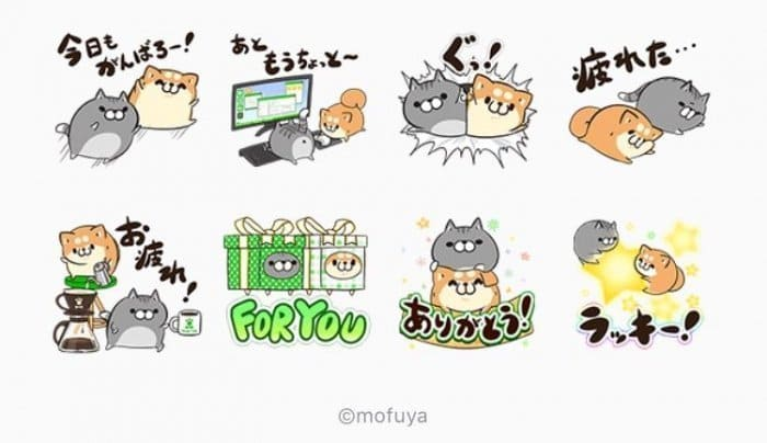【LINE無料スタンプ】『LINE STORE x ボンレス犬&猫』が登場、配布期間は1月3日まで