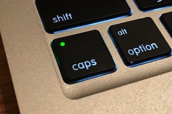 Macのcapsキー