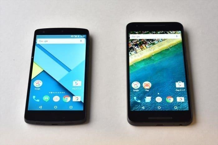 Nexus 5(左)とNexus 5X(右)