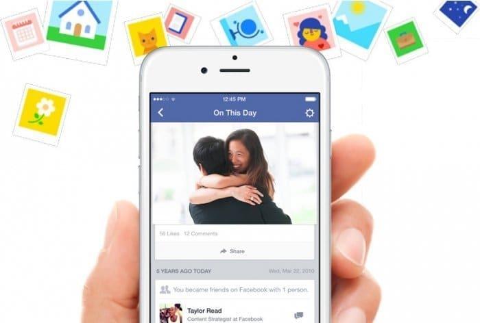 Facebookの「過去のこの日」機能