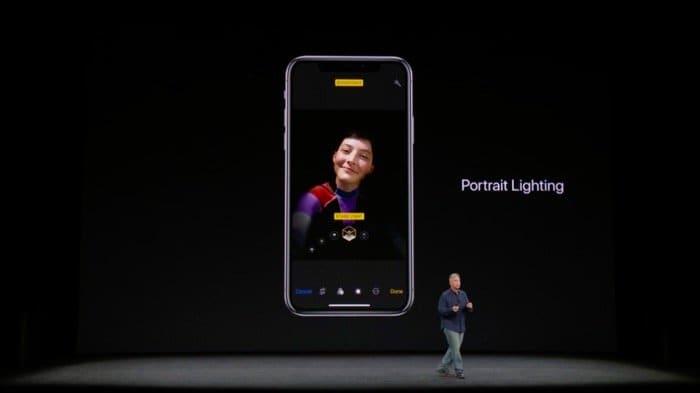 iPhone X:TrueDepthカメラのポートレートライティング