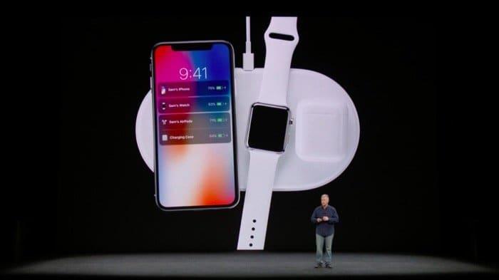 iPhone X:ワイヤレス充電 AirPoweマット