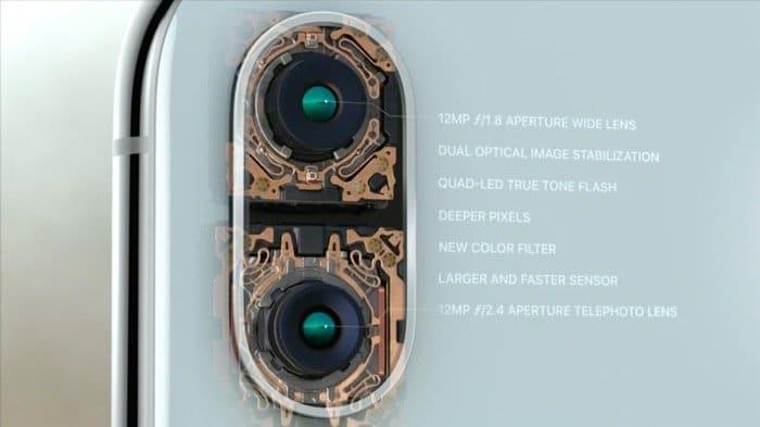 iPhone X:アウトカメラ