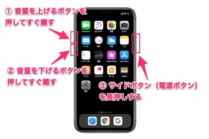 iPhone X以降 強制終了の手順
