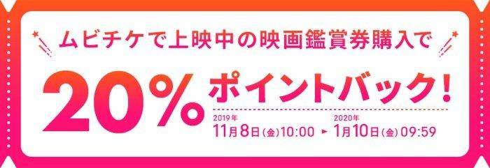 楽天ペイ ムビチケ当日券購入で楽天スーパーポイント20%還元