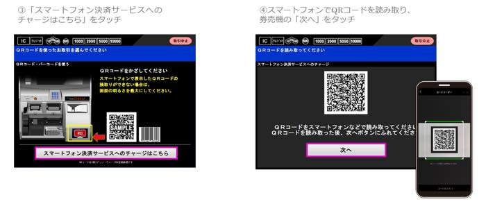 LINE Pay ラインペイ チャージ 駅券売機 東急
