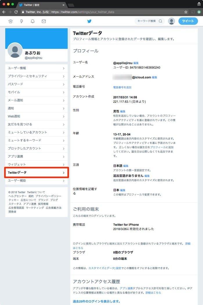 Twitter.com:Twitterデータ