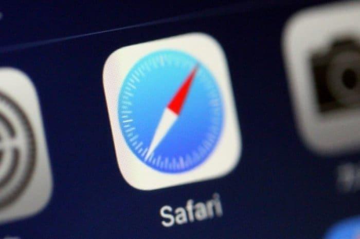 iPhone Safari テザリング