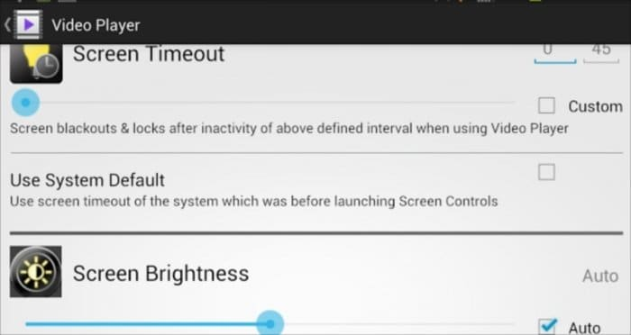 Screen Controls