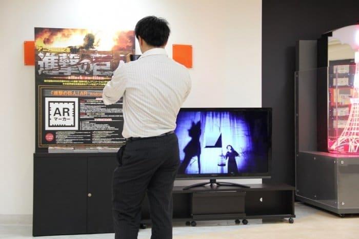 進撃の巨人 AR巨人カメラ 東京タワー3F