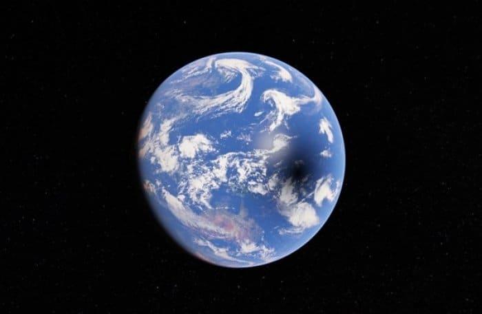 Googleマップ 日食
