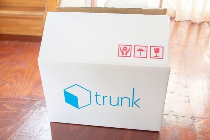 trunk専用ダンボールに梱包する