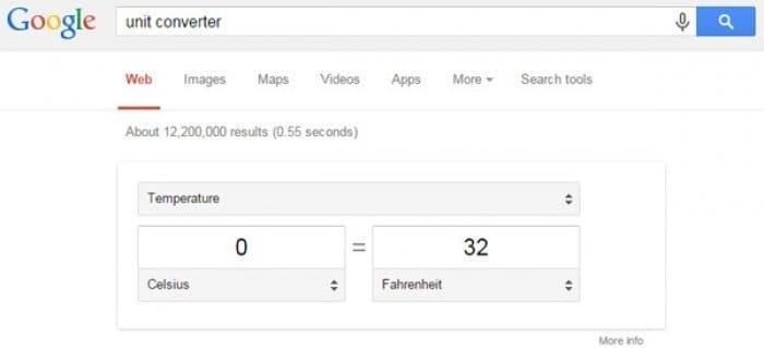 グーグル検索 単位変換