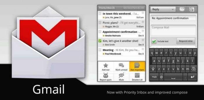 「Gmail」アプリがアップデート、7インチディスプレイへのサポート改善など