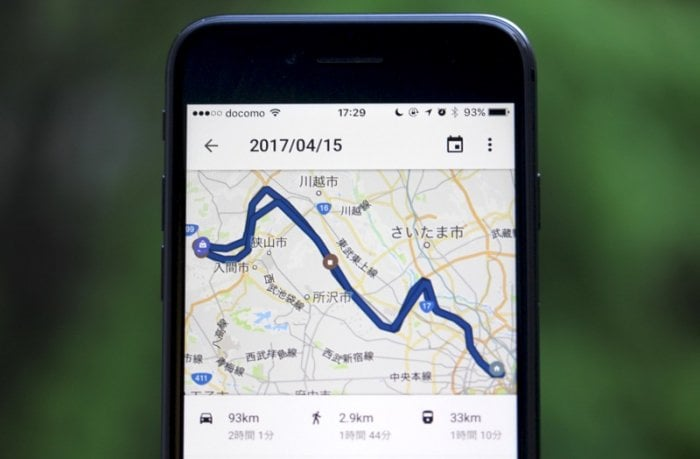 iOS版Googleマップに「タイムライン」機能が新登場、ユーザーの移動経路をバッチリ記録