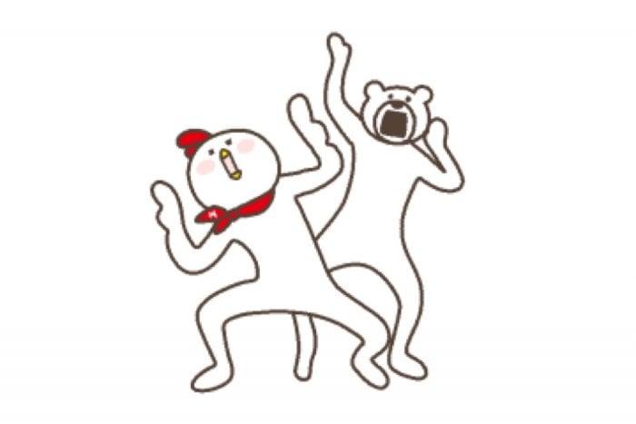 【LINE無料スタンプ】『けたたましく動くクマ×ホンディー』が登場、配布期間は2月11日まで