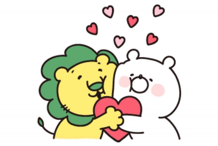 【LINE無料スタンプ】『ガーリーくまさん×ライオンちゃん』が登場、配布期間は3月25日まで