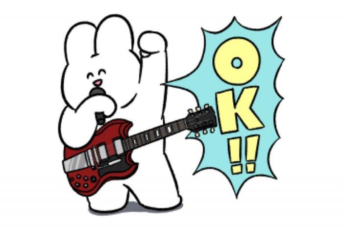 【LINE無料スタンプ】『うさロック×LINEスコア』が登場、配布期間は10月16日まで