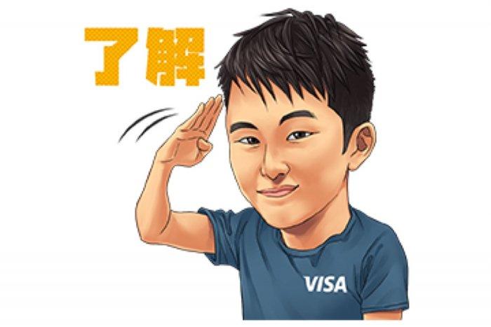【LINE無料スタンプ】『Team Visa アスリートスタンプ』が登場、配布期間は4月29日まで