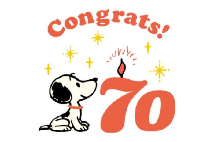 【LINE無料スタンプ】『スヌーピー 70周年記念スタンプ』が登場、配布期間は12月19日まで